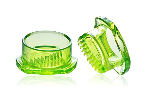 Garlic Twister 4th Generation - Multifunctional Mincer and Grinder, Garlic/Herbs/Ginger Easy to Clean! (Green)