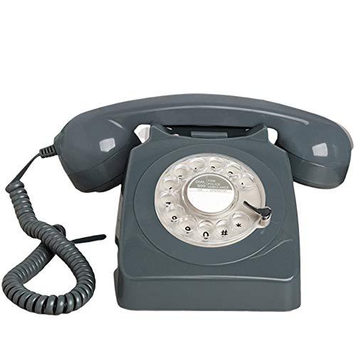 AUED Retro Festnetztelefon Taste Rotierende Scheibe Startseite Festnetztelefon Pastorale Klassische Vintage Telefon Festnetztelefon Wohnzimmer Studie Hotel Schlafzimmer Grün,Grau