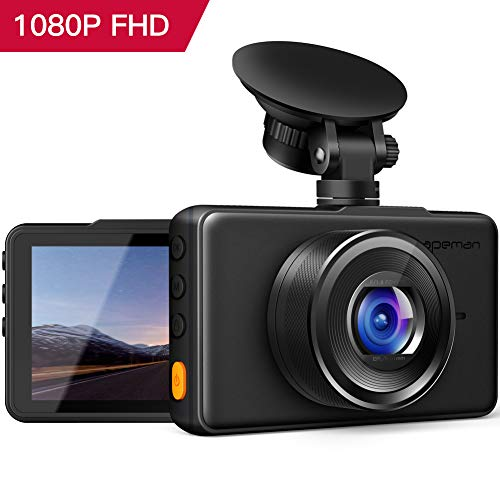 APEMAN Dashcam 1080P Full HD DVR Autokamera 3 Zoll LCD-Bildschirm 170 ° Weitwinkel, G-Sensor, WDR,...
