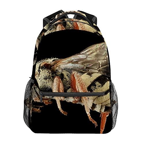 Mochila escolar divertida de insectos abeja estudiante viaje senderismo camping mochila casual libro bolsas bolsa de hombro
