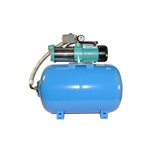 Hauswasserwerk Wasserpumpe 400V 2200W inkl Druckbehälter 50, 80 oder 100L Gartenpumpe Set (100 L)