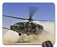 軍用ヘリコプターは着陸マウスパッドアンチスリップデスクトップマウスパッドゲーミングマウスパッド