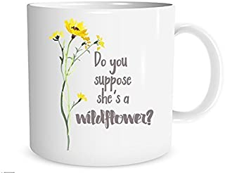 Do You Suppose She's a Wildflower? Alice in Wonderland Mug, 11 oz. Coffee Cup