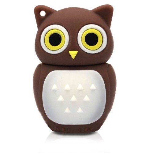 818-Shop No11400010064 Hi-Speed 2.0 USB-Sticks 64GB Eule Vogel Uhu 3D braun