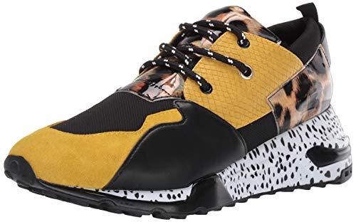 Steve Madden Men's Ridge Sneaker, Yellow Multi, 9 M US