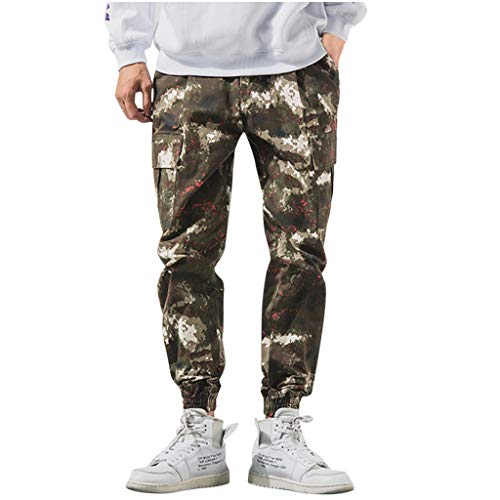 ITISME Herren Camouflage jeans Freizeithose, 2019 Herbst und Winter Oversized Camo Jogginghose Männer Sommer Jeans Casual Lang Skate Board Stright Fashion Jean Plus Größe S-8XL Wandern Party Hose Sale