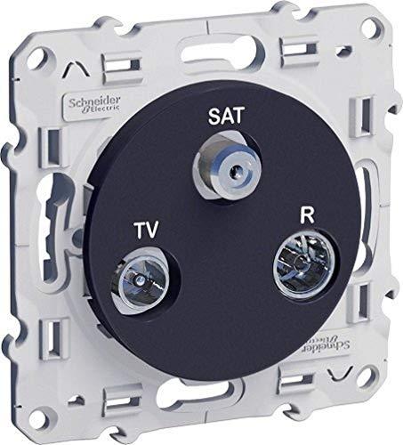 Schneider Electric Presa Odace TV/SAT/FM, nero, SC5S54A461