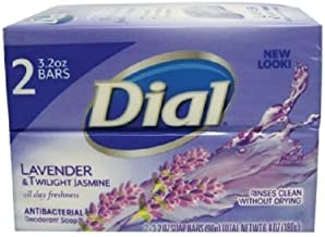 Dial Antibacterial Deodorant Soap Lavender and Twilight Jasmine 3.2-ounce Bars--2 count