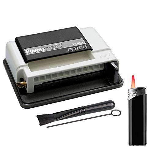 Powermatic Mini Plus Zigarettenstopfmaschine inkl. 1x Sepilo® Turbofeuerzeug Stopfmaschine der Extraklasse + Zubehör - Zigarettenstopfer/Zigarettenmaschine (White)
