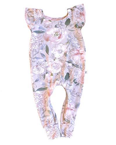 One Kind - Body de bambú para bebé y niño pequeño, con cremallera en la entrepierna, Rosado Floral, 18-24 Meses