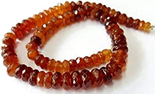 """Jewel Beads Natural Beautiful jewellery Natural Hessonite [gomed]faceted beads,very nice quality beads, size 5 mm - 8 mm,10""""strand[E2031]Code:- BB-7394"""