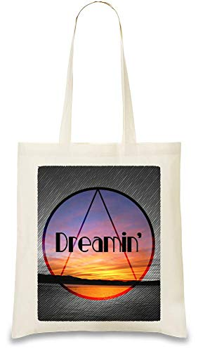 Kalifornien träumen - Dreaming California Custom Printed Tote Bag| 100% Soft Cotton| Natural Color & Eco-Friendly| Unique, Re-Usable & Stylish Handbag For Every Day Use| Custom Shoulder Bags By Josh