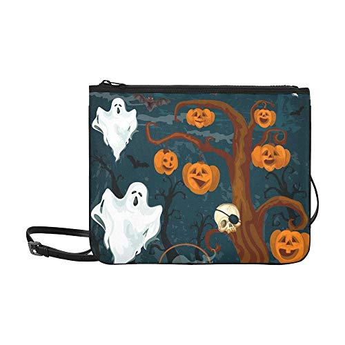 Halloween Party Einladung Banner Horror Ghost Benutzerdefinierte hochwertige Nylon Slim Clutch Crossbody Tasche Umhängetasche