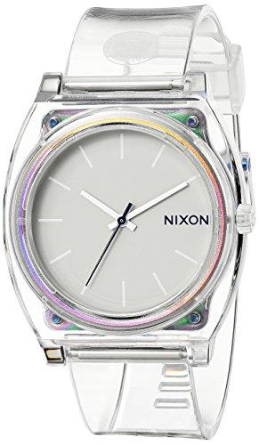Nixon Time Teller P Damennuhr Analog Quarz mit Kunststoff Armband Translucent