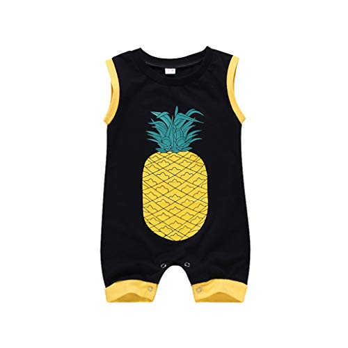 Julhold zomer kind baby jongens & meisjes casual lief anananas print rompler katoen overall kleding sunsuit 3-24 maanden