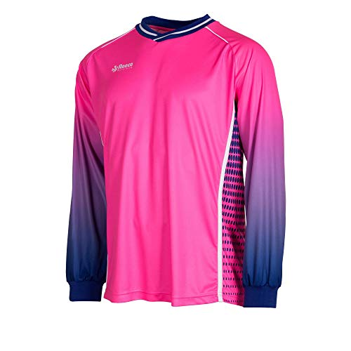 Reece Luke HockeyTorwart Trikot neon pink-blau Kinder neon pink-deep blue, 164/S