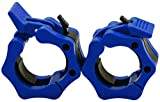 GLE2016 Olympic Barbell Clamp Collar Quick Release Pair of Locking 2 Inches Professional Weight Bar Plate Locks Collar Clips for Workout Weightlifting Fitness Training