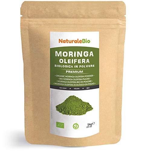Moringa Oleifera Bio en Poudre [ Qualité Premium ] de 1kg. 100% Organique, Naturel et Pur. Feuilles de la Plante du Moringa Oleifera. NaturaleBio