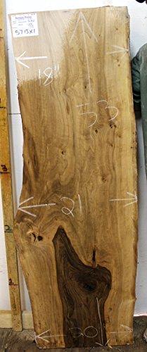 "5' Long 20"" Wide Live Edge Bartop Countertop Natural Bastogne Walnut Raw Wood Slab Unfinished Unique Desktop Vanity Top Rustic Furniture Wide Lumber 5713x01"
