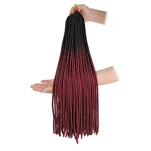 FAMILIZO Pelucas Mujer Pelo Natural Largo Corto Postizos De Pelo Natural Hombres Moda Mujer Bonita Chica Gradiente Color Twist Crochet Trenzas Extensiones Pelucas