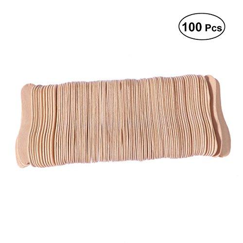 100 stücke Holz Eislöffel Holz Schnupper Löffel Eis am Stiel Paddel Löffel
