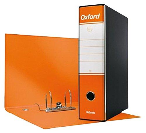Esselte Oxford - Carpeta con mecanismo de palanca y funda, color Arancione Dorso 8 cm