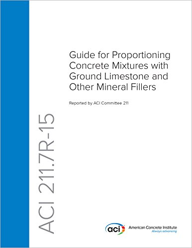 ACI 211.7R-15: Guide for Proportioning Concrete Mixtures with Ground Limestone and Other Mineral Fillers