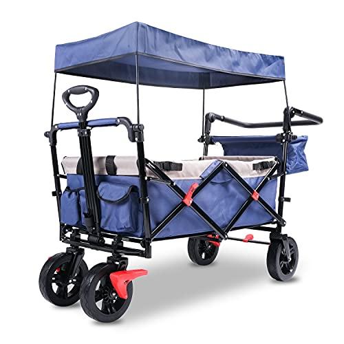 Carro plegable con techo, carro plegable para exteriores, carro de transporte con...