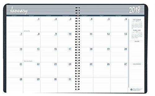 House of Doolittle 2018-2019 2-Year Monthly Expense Planner, 6.88 x 8.75 Inches, January - December, Black (HOD268002-18)