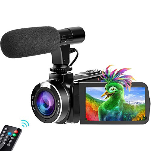 Camcorder Video Camera, 2.7K Vlogging Camera for YouTube WiFi Ultra 24MP 16X Digital Zoom Camcorder with Microphone 3.0 Inch Touch Screen Support Night Vision