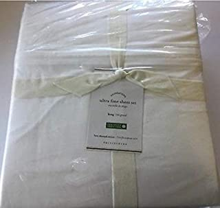 "WAMSUTTA Full Sheet Set /""Striped Silver/"" 500 Thread Count"