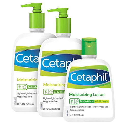 Cetaphil Lotion - 3 Pack - Contains Two 20 Oz Lotions and One 4 Oz Lotion (Great for Travel) - 44 Oz Total