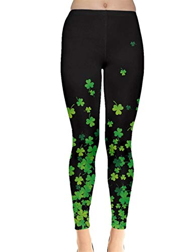 CowCow Womens Shamrock Flow Dark Leggings, Dark - L