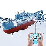 LYXCM Juguetes submarinos de RC para niños, Juguete electrónico Impermeable del Buceo del Mini Barco Submarino teledirigido   Regalo para niños Piscina Pecera Barco RC
