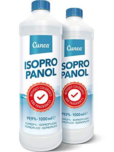 Isopropanol 99,9% Lösungsmittel geeignet als Fettlöser, Reinigungsflüssigkeit - Klebereste Entferner, 2x1000 ml