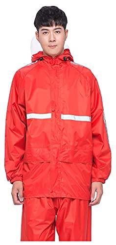 abrigo impermeable largo Traje de lluvia de pesca a prueba de agua para hombres Mujeres Rain Gear (Chaqueta y traje de pantalón) Ultra-Lite Impermeable con capucha para bicicleta Ciclismo Motocicleta