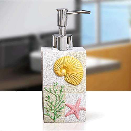 WXQIANG Creativo Resina Soap Dispenser con Pompa di plastica Wide Mouth Bianco Bump Mapping Lotion Housewares Bottiglia Bagno casalinghi, Dispenser (Color : White)