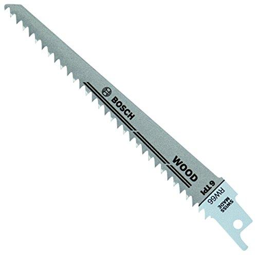 BOSCH RW66 6-Inch 6 TPI Wood Cutting reciprocating Saw Blades - 5 Pack , Blue