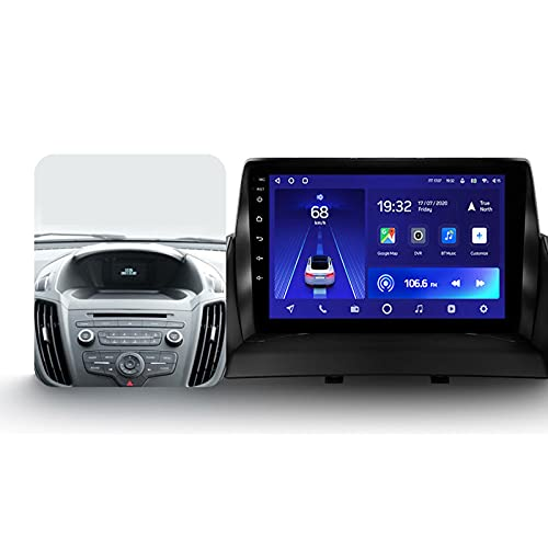 Para Ford Kuga 2 2012-2019,Android 10 9'' Autoradio Con Pantalla Táctil/Enlace Espejo/BT/GPS/Mandos De Volante/Cámara Trasera/4G LTE+5G WIFI/3D Dinámica De Conducción En Tiempo Real,Cc2l,2+32G