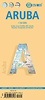 Laminated Aruba Map by Borch (English, Spanish, French, Italian and German Edition)