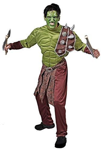 Gojoy shop- Disfraz de Orco para Hombres Halloween Canaval (ContieneTraje, Talla Unica)