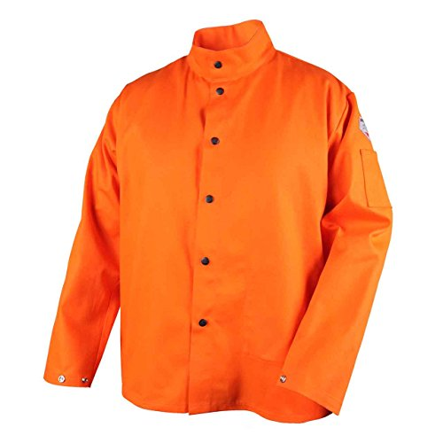 Revco FO9-30C-XL Flame Resistant Cotton Welding Jacket, X-Large, Orange