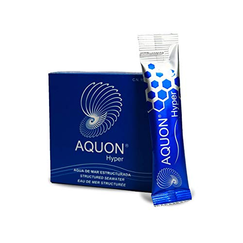 Aquon Hyper- 30 Sticks Bebibles de Plasma Marino - Electrolitos Naturales Para los Calambres y Fatiga Muscular