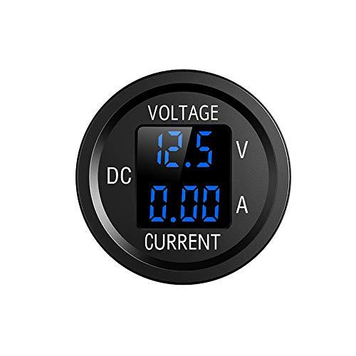 YGL 6V/48V Pantalla de Corriente y Voltaje de DC Voltímetro Amperímetro, con Pantalla Digital LED, Adecuado para Automóviles Motocicletas Camiones Barcos Yates(Azul)