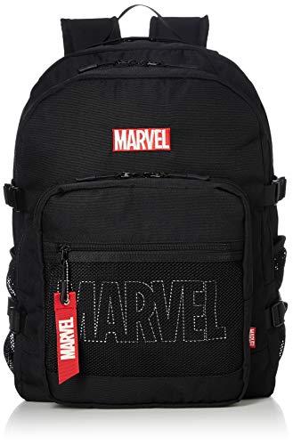 [マーベル] MARVEL マーベル メンズ レディース バックパック 大容量 メッシュポケット 通学 通勤 リュック ブラック One Size