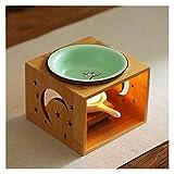 Portacandele Tealight in ceramica, Scaldamani di candela, Aromaterapia Aroma Burner, Essential Oil Burner Diffusore, Meditate Spa Decorazione della Camera da letto per la casa della spa, regalo di Nat
