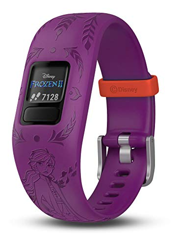 Garmin vivofit jr. 2, Kids Fitness/Activity Tracker, 1-Year Battery Life, Adjustable Band, Disney Frozen 2, Anna, Purple