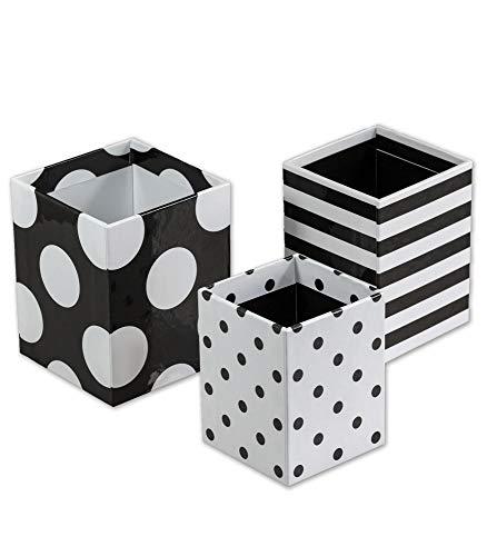 Schoolgirl Style - Simply Stylish | Polka Dot Pencil Cups, 3 Assorted Sizes, Desk Organization