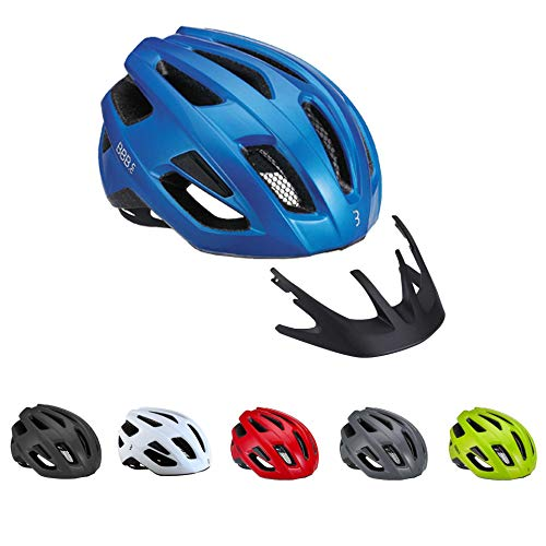 BBB Cycling Unisex-Adult BHE-29 Helmet Kite Helm, Glossy Blue, Large 58-62cm, L (58-61cm)