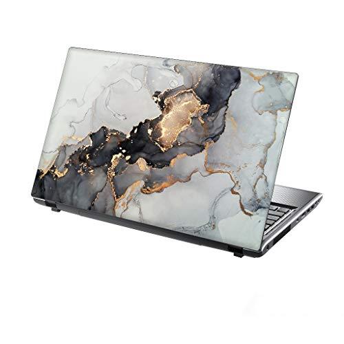 TaylorHe - Vinilo adhesivo para portátil de 13 a 14', diseño abstracto, color dorado y gris